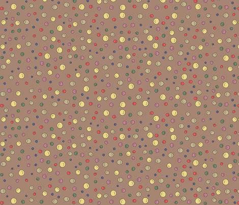 Joy Dots - brown fabric by catru on Spoonflower - custom fabric