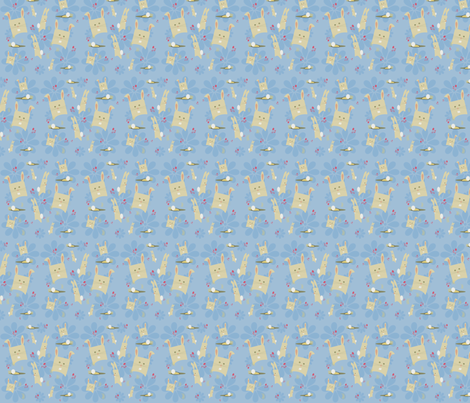 Hip to Be a Bunny fabric by tracydw70 on Spoonflower - custom fabric