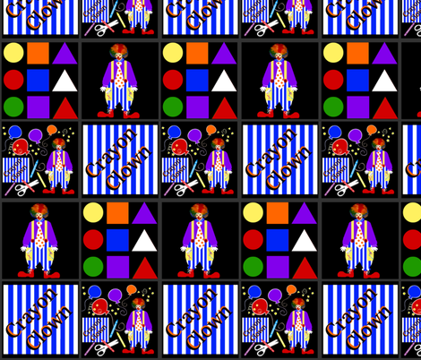 Crayon the Clown / patch fabric by paragonstudios on Spoonflower - custom fabric