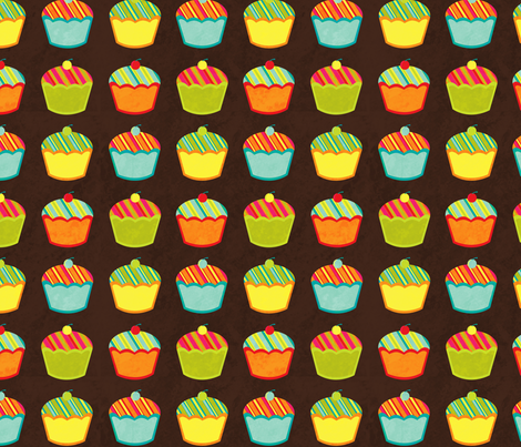 Cupcakes fabric by jennartdesigns on Spoonflower - custom fabric