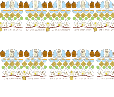 Breakfast in the Mouth Fair Isle fabric by sparegus on Spoonflower - custom fabric
