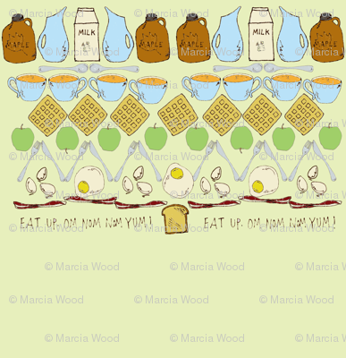 Breakfast in the Mouth Fair Isle Design - light green background