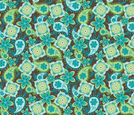 Ocean Paisley fabric by aimeemarie on Spoonflower - custom fabric
