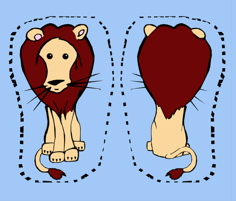 Lion Plush fabric by pond_ripple on Spoonflower - custom fabric