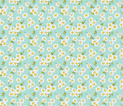 pear blossom fabric by littlerhodydesign on Spoonflower - custom fabric