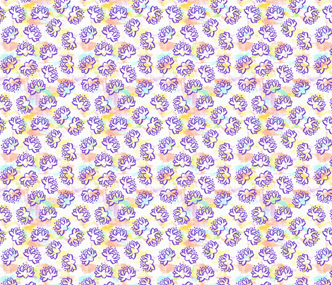 Lotus (Hybrid Rainbow/Purple) fabric by shirayukin on Spoonflower - custom fabric