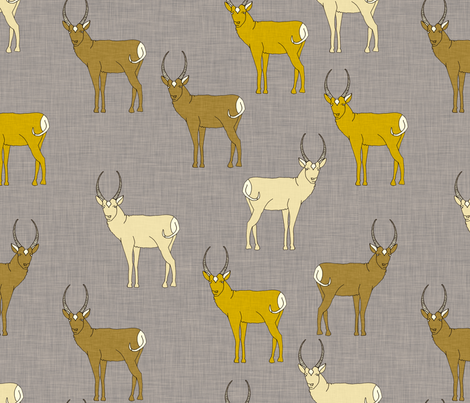 pronghorn_linen fabric by holli_zollinger on Spoonflower - custom fabric