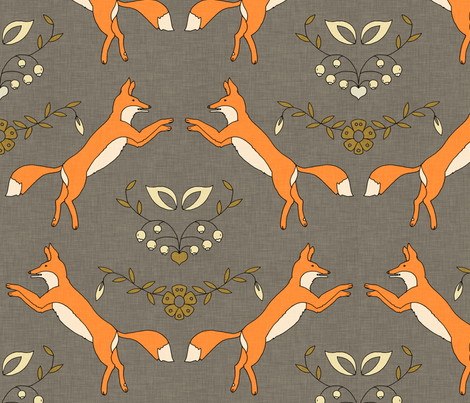 Foxen fabric holli zollinger spoonflower for Fox print fabric
