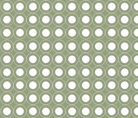 Circle Circle (Olive) fabric by designedtoat on Spoonflower - custom fabric