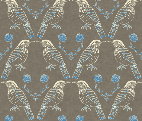 wren_and_linen fabric by holli_zollinger on Spoonflower - custom fabric