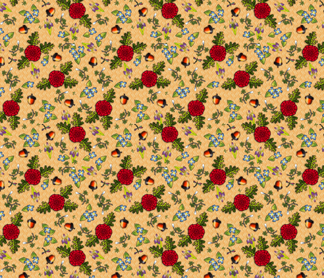 ©2011 Kitchen Surprise fabric by glimmericks on Spoonflower - custom fabric