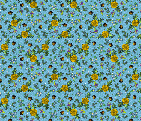 ©2011 my kitchen table  blueyellow fabric by glimmericks on Spoonflower - custom fabric