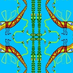 Jeweled Creature in Flight