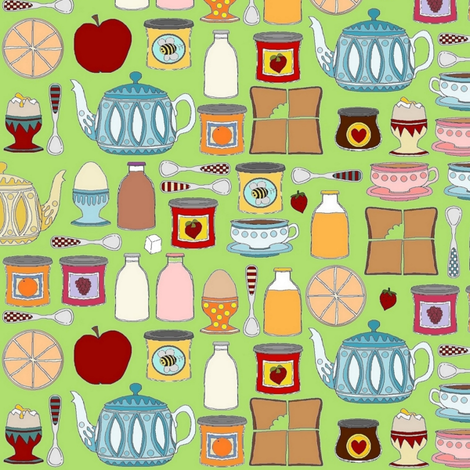 Summer House Breakfast fabric by scrummy on Spoonflower - custom fabric