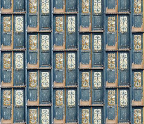 Big Doors done smaller fabric by susaninparis on Spoonflower - custom fabric