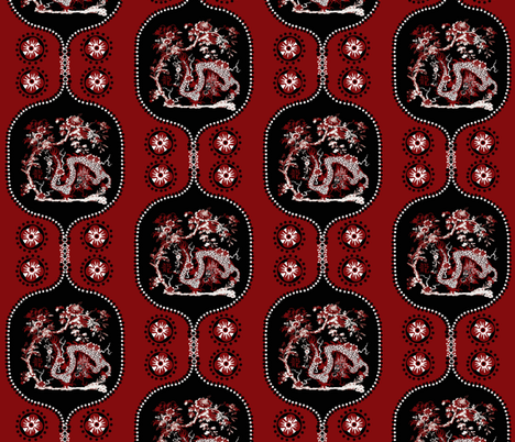 Year of the Dragon / tile fabric by paragonstudios on Spoonflower - custom fabric