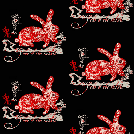 Year of the rabbit fabric by paragonstudios on Spoonflower - custom fabric