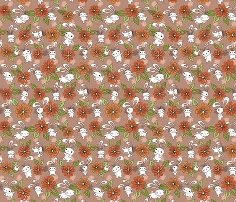 Loopy Ears and Flowers fabric by jillianmorris on Spoonflower - custom fabric