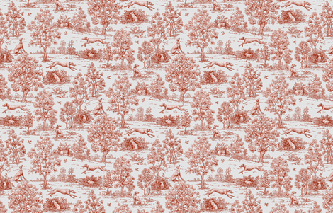 Gray and Burgundy Greyhound Toile ©2010 by Jane Walker fabric by artbyjanewalker on Spoonflower - custom fabric