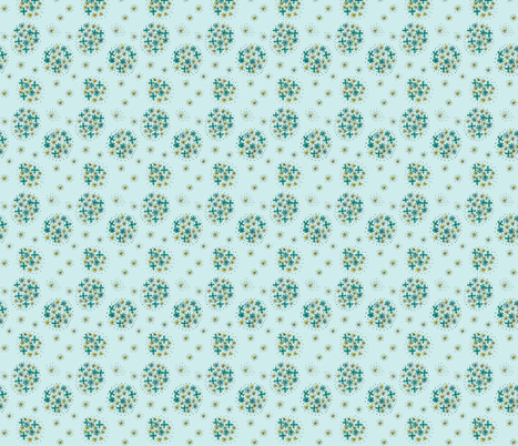 aquacontestfloral-ed fabric by kimspoonflower on Spoonflower - custom fabric
