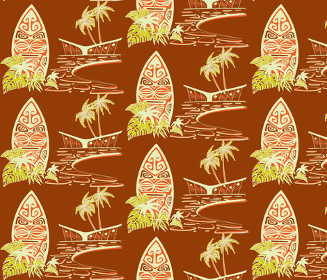 Esay Living, shield, volcanic earth fabric by sophista-tiki on Spoonflower - custom fabric
