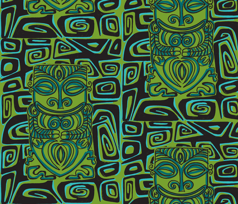 Thaitian Canibal, beachnic fabric by sophista-tiki_by_dawn_frasier on Spoonflower - custom fabric