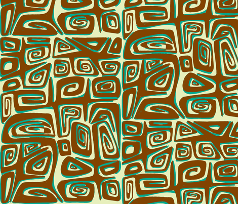Absractiva  Tahitian, driftwood fabric by sophista-tiki_by_dawn_frasier on Spoonflower - custom fabric