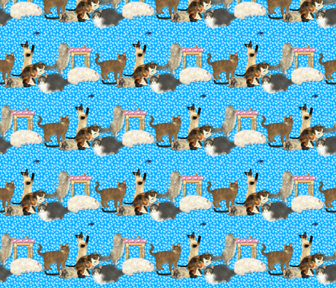 KittyStripes fabric by tallulahdahling on Spoonflower - custom fabric