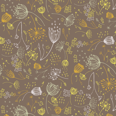 Queeny Gold fabric by daniellerenee on Spoonflower - custom fabric