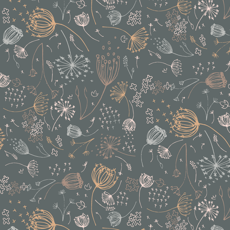 Queeny Muted fabric by daniellerenee on Spoonflower - custom fabric