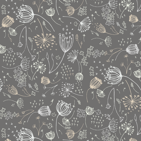 Queeny Gray fabric by daniellerenee on Spoonflower - custom fabric