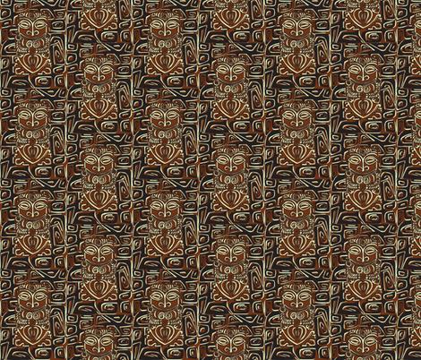 Tahitian Canibal, traditional fabric by sophista-tiki_by_dawn_frasier on Spoonflower - custom fabric