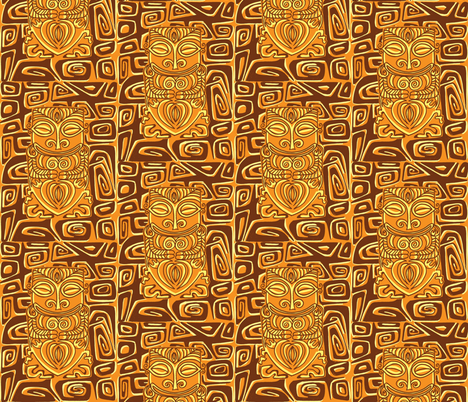 Tahitian Canibal, volcanic earth fabric by sophista-tiki_by_dawn_frasier on Spoonflower - custom fabric