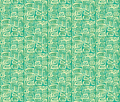 Abstractiva tahitian, tidepool fabric by sophista-tiki_by_dawn_frasier on Spoonflower - custom fabric