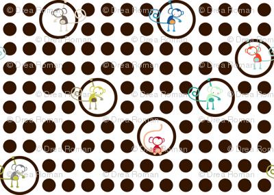 ABC Baby Coordinate - Hangin' Around Dots