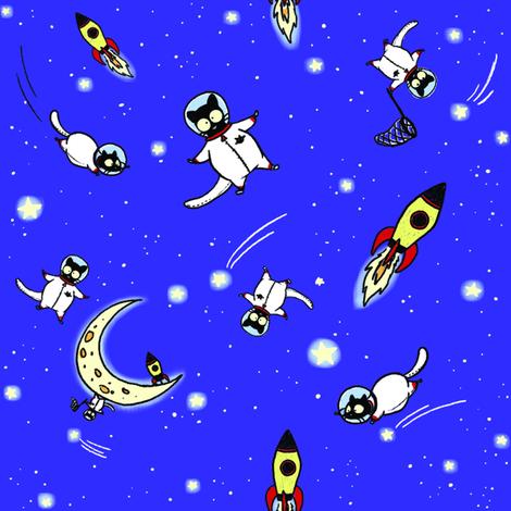 Astronaut Echo full colour fabric by celestegs on Spoonflower - custom fabric