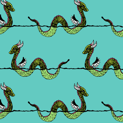 Sea Serpent fabric by pond_ripple on Spoonflower - custom fabric