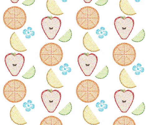 Stamped Fruit fabric by eppiepeppercorn on Spoonflower - custom fabric
