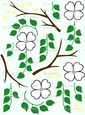 Dogwood for Spoonflower