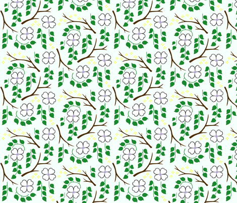 Dogwood for Spoonflower fabric by janetm on Spoonflower - custom fabric