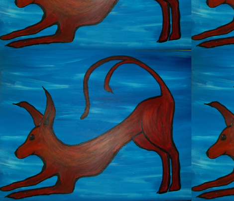 red dog fabric by ansley37 on Spoonflower - custom fabric