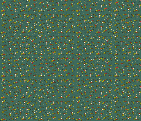 Little xmas - green fabric by catru on Spoonflower - custom fabric