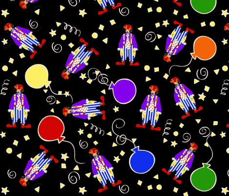 Crayon the Clown  fabric by paragonstudios on Spoonflower - custom fabric