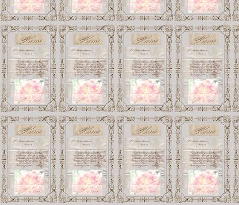 Paris Peonies fabric by karenharveycox on Spoonflower - custom fabric