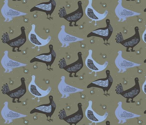 fancy_pigeons2 fabric by antoniamanda on Spoonflower - custom fabric