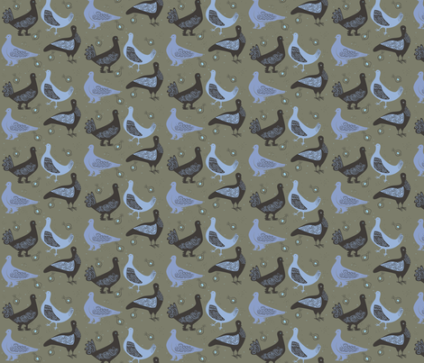 fancy_pigeons2 fabric by antoniamanda on Spoonflower - custom fabric
