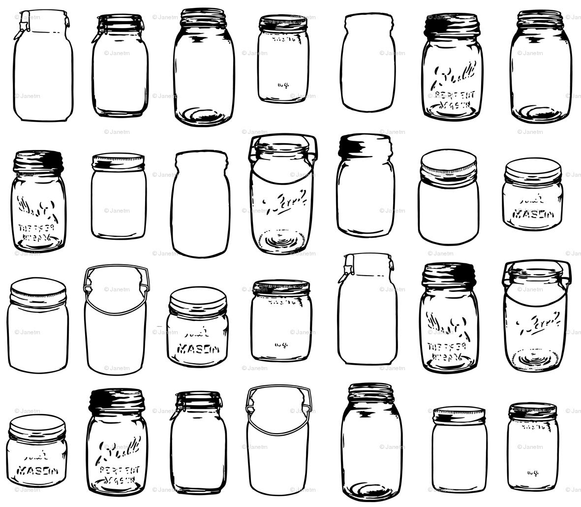 Jars Drawing Mason Jars Janetm