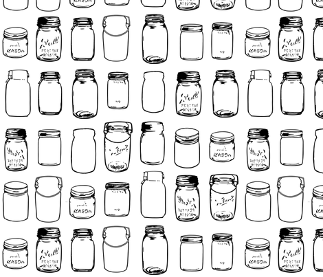 Mason Jars fabric by janetm on Spoonflower - custom fabric