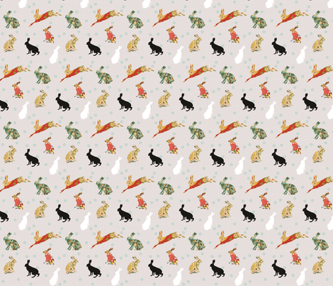 Lapins fabric by hushaby&quirks on Spoonflower - custom fabric