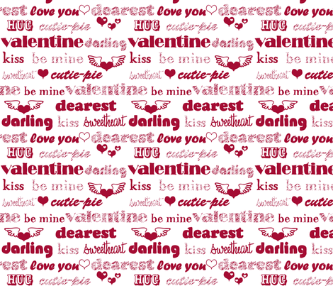 Be My Valentine fabric by jmckinniss on Spoonflower - custom fabric